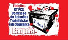 Logo Eleições GT PCS Comitês de Relações Trabalhistas e Segurança Bancária no Banpará