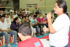 Rosalina Amorim conclamou os bancários e bancárias a construir uma greve forte, para derrotar a ganância dos banqueiros - Foto_David Alves